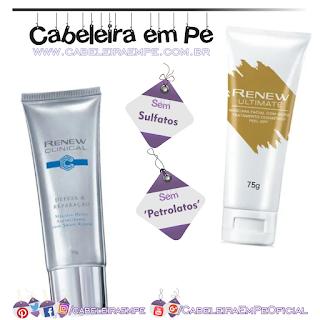 Máscaras Renew (Com Ouro) Peel-off e Detox Antioxidante - Avon (Sem Sulfatos e Sem Petrolatos)