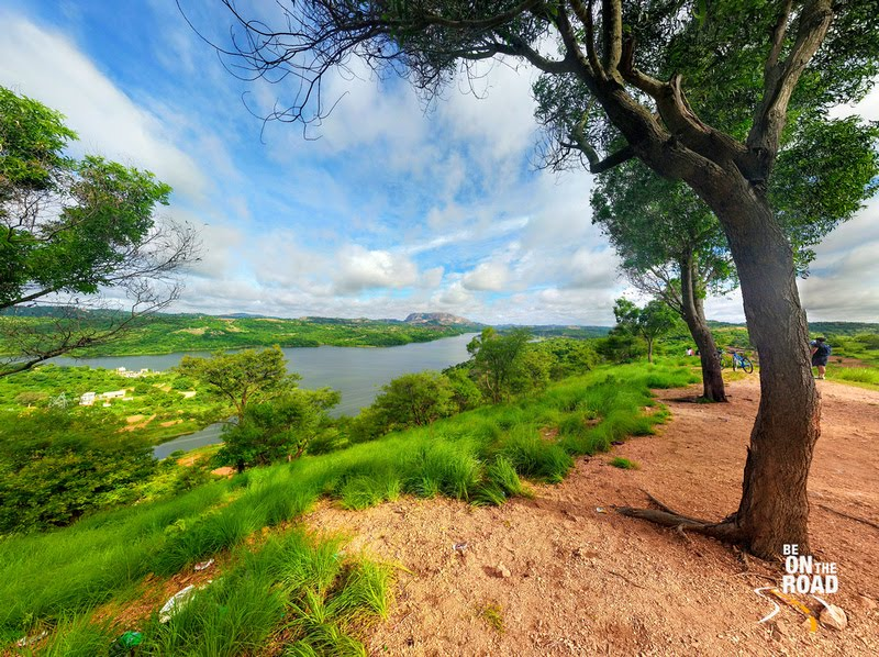 Lush green Manchinbele Dam Panorama