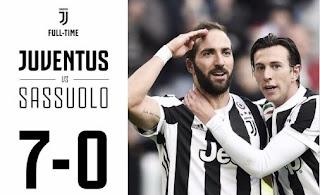 Juventus Bantai Sassuolo 7-0