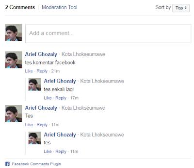 Cara Pasang Gadget Komentar Facebook di Blog Blogspot