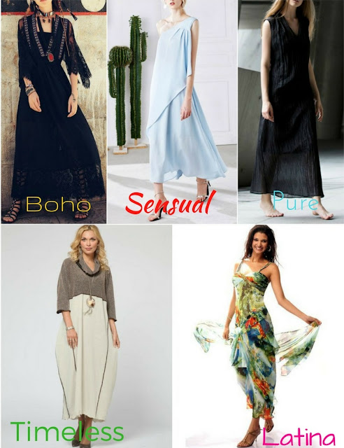 5 maxi dresses for five different women. Style ideas to match personal fashion taste with independent designers