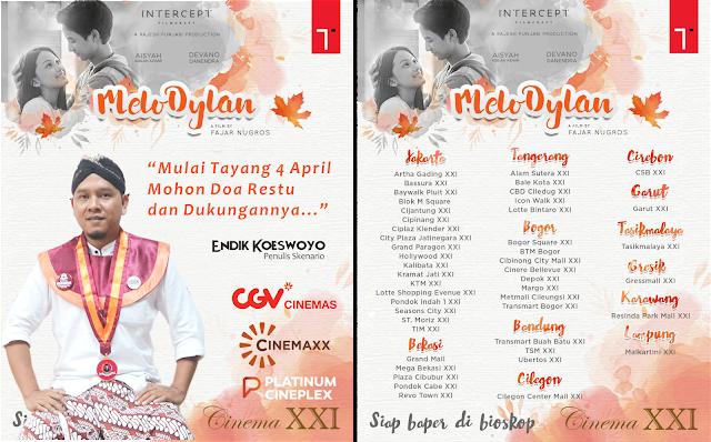 Jadwal Tayang Film Melodylan mulai 4 April 2019 di bioskop seluruh Indonesia