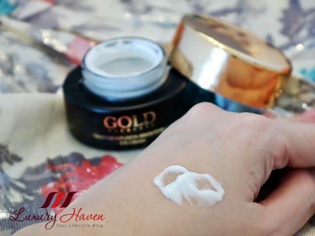 beauty blogger reviews gold elements eye cream