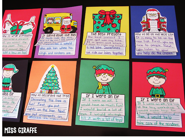 December writing crafts perfect for Christmas crafts and writing fun