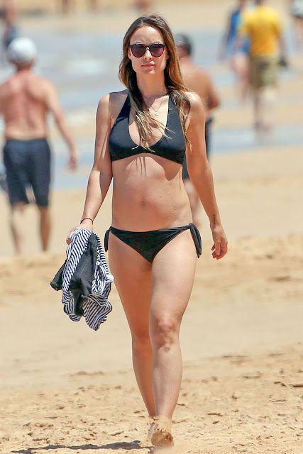 Olivia Wilde in a Bikini at a Beach in Hawaii