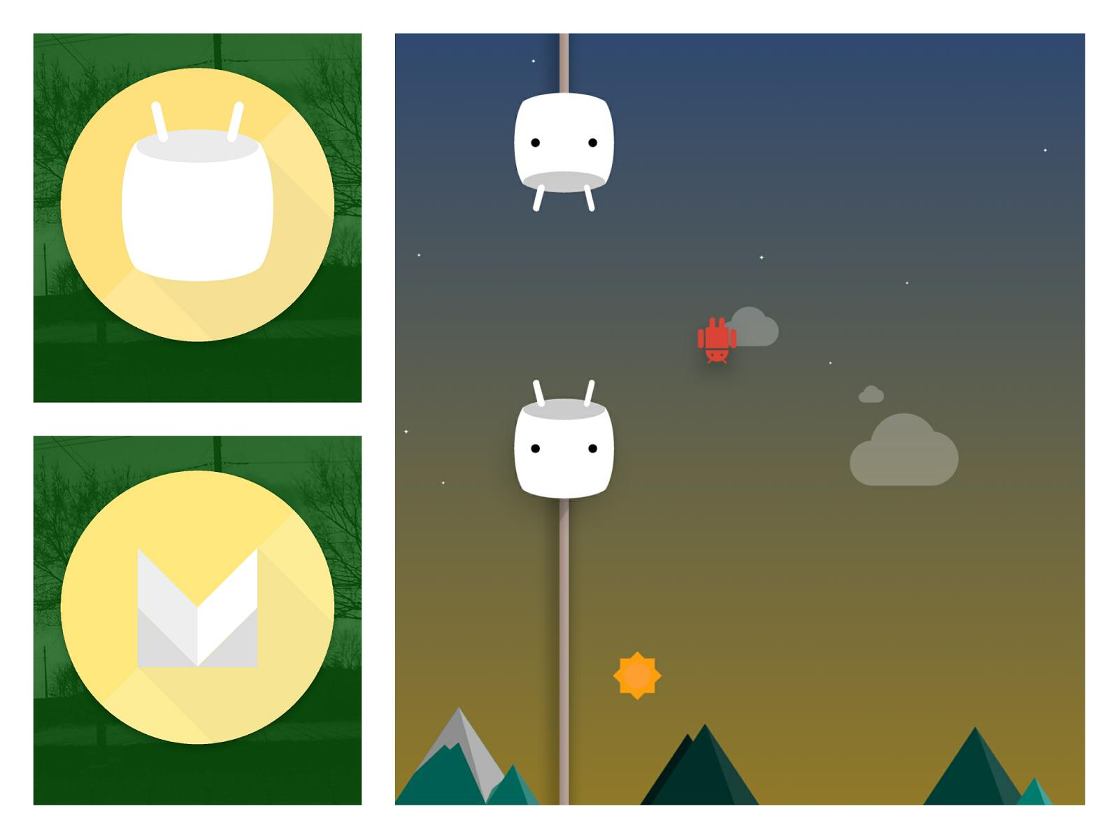 Android 6.0/マシュマロのアニメーションのスクリーンショット