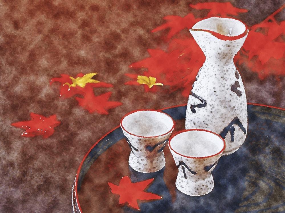 水彩画の日本酒