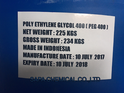 CABOWAX (tên thương mại), POLYETHYLENE GLYCOL (PEG), hay có tên gọi khác: POLYETHYLENE OXIDE (PEO), POE tùy thuộc vào khối lượng phân tử.