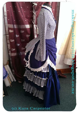 1870s historically inspired seaside outfit from Fashion Plate - work in progress