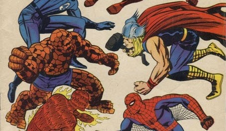 Fantastic Four 73-FlamesofBattle-Thor-Daredevil-Lee-Kirby