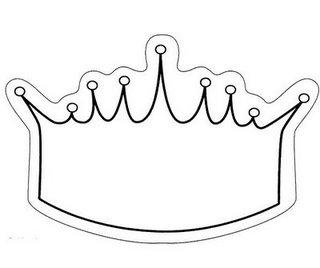 Koningsdag Kroon Kleurplaat Moldes De Coroas De Reis Rainhas E Princesas Espa 199 O Educar