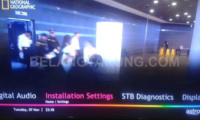 Installation Setting Menu