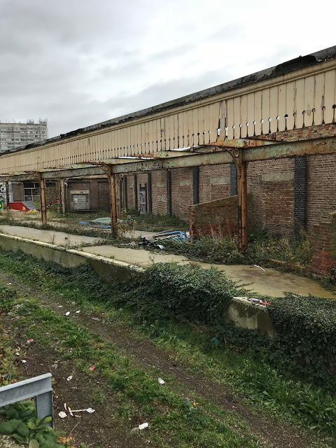 Abandoned parcel depot and sidings, Margate station, Kent