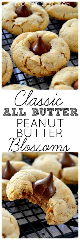 ★★★★☆ 5801 ratings        | Classic, All Butter Peanut Butter Blossoms #Classic #AllButter #Peanut #Butter #Blossoms
