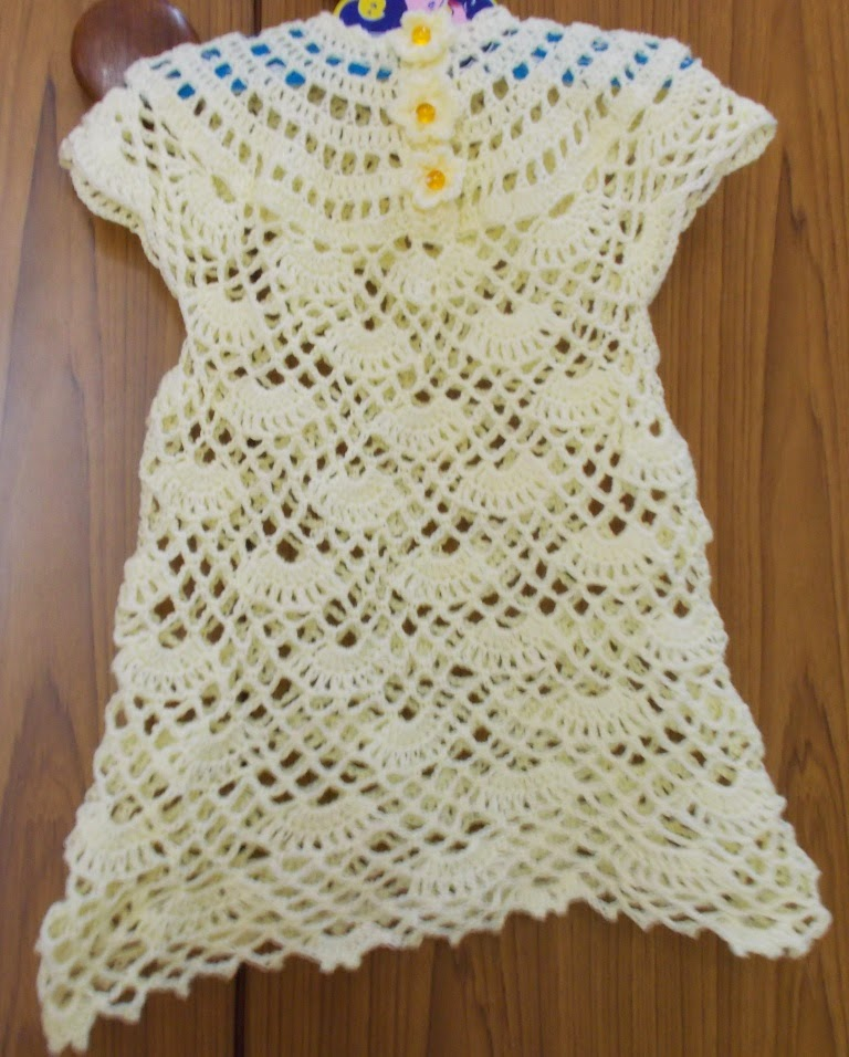 free crochet lil girls dress pattern