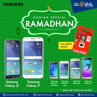 Samsung Galaxy J series Promo Ramadhan Hadiah SanDisk MMC 16 GB