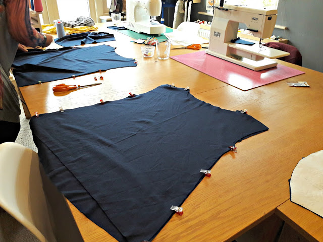 Sewing the pieces together - Stretch fabric workshop at The Make & Do Studio