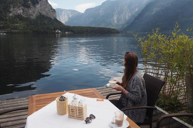 Lunch with a view Hallstatt Austria