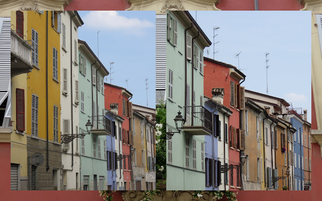 Day trip to Parma - colorful facades