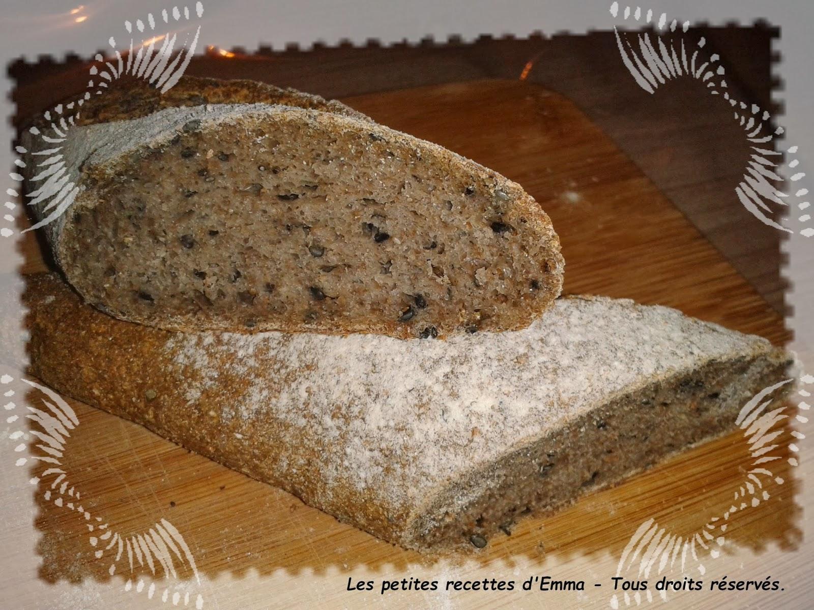 les petites recettes d 39 emma pain la farine int grale. Black Bedroom Furniture Sets. Home Design Ideas