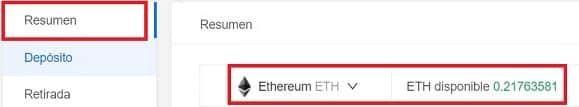 saldo ethereum en kucoin recibido