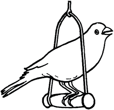 Printable Canary Bird Coloring Pages
