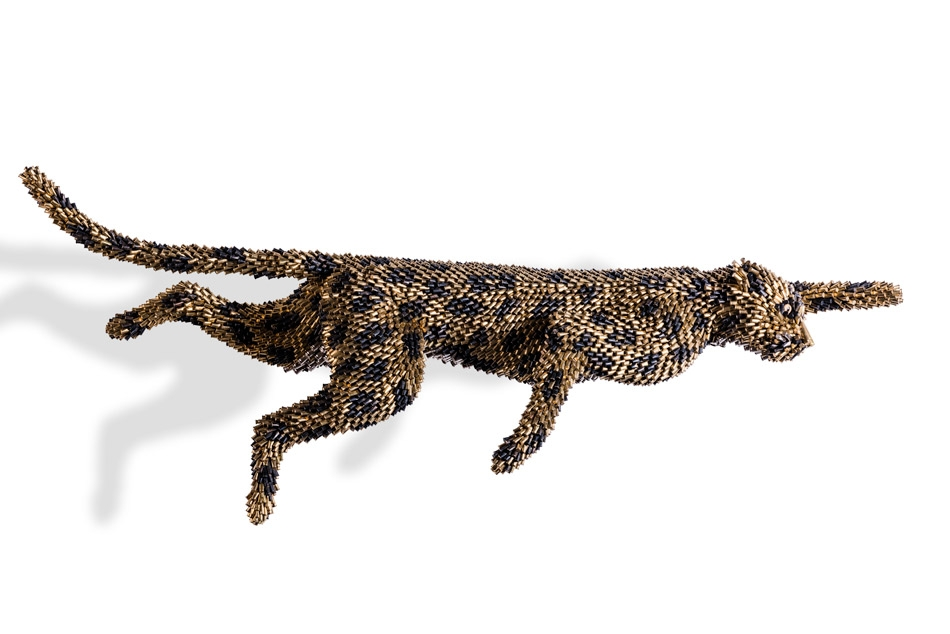 17-Wild Cat-Federico-Uribe-Killing-it-with-Bullet-Animal-Sculptures-www-designstack-co