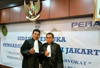 KPT DKI Jakarta Ambil Sumpah Advokat PERADRI