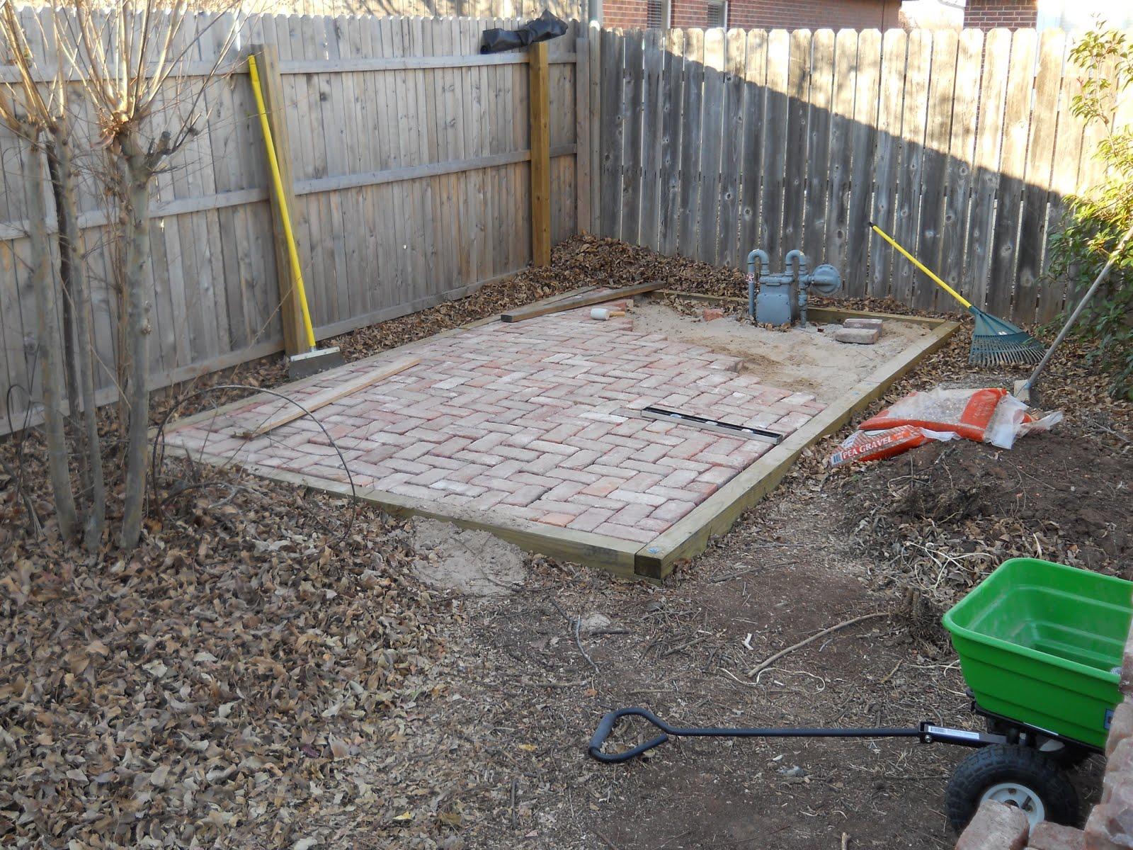 Oklahoma Projects Around The House: DIY Brick Patio on Backyard Brick Patio id=97854