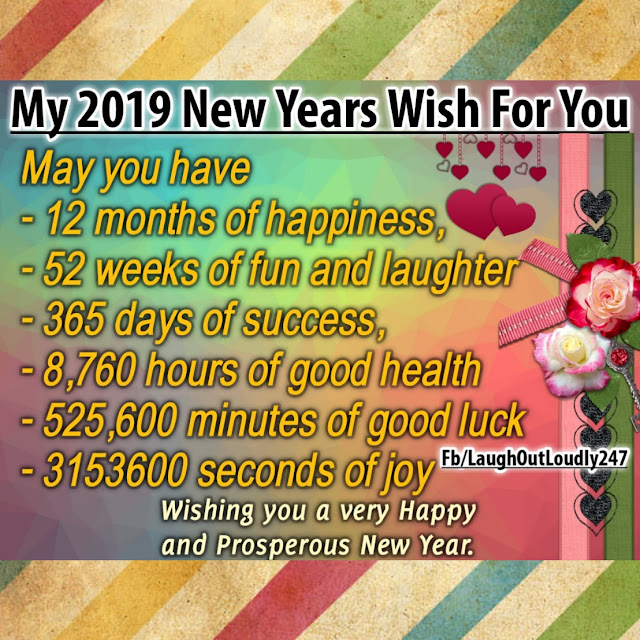 My 2019 New Year Wishes For You