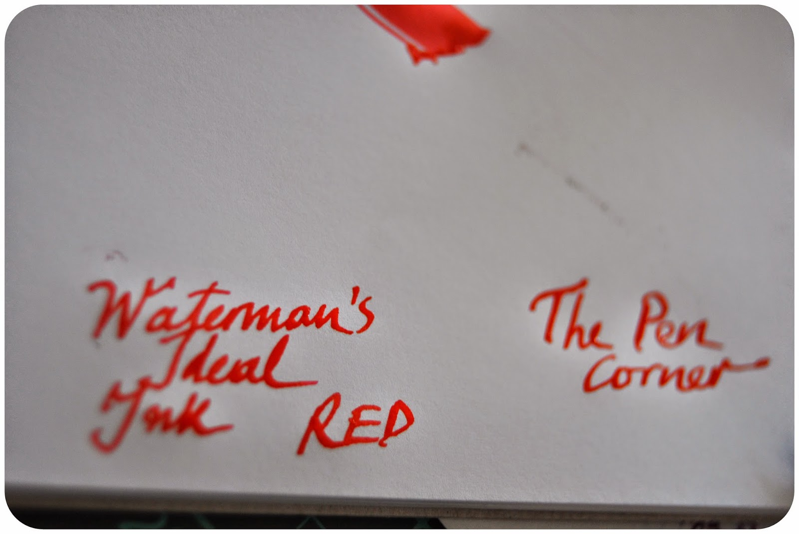 Red ink on term paper