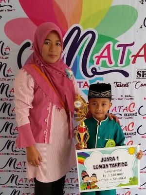 Usia 6 Tahun M. Rafa Amrullah Juara I Dalam Membaca AL Qur'an