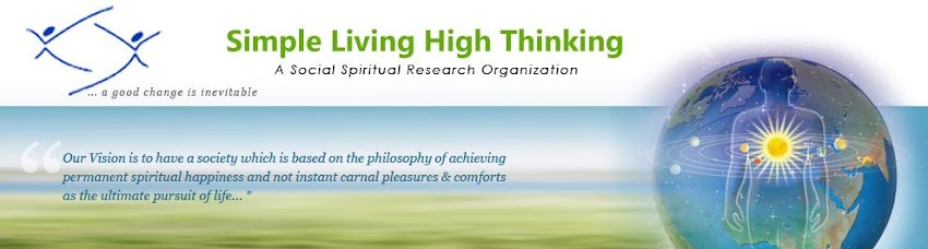 simple living high thinking material vs spiritual happiness
