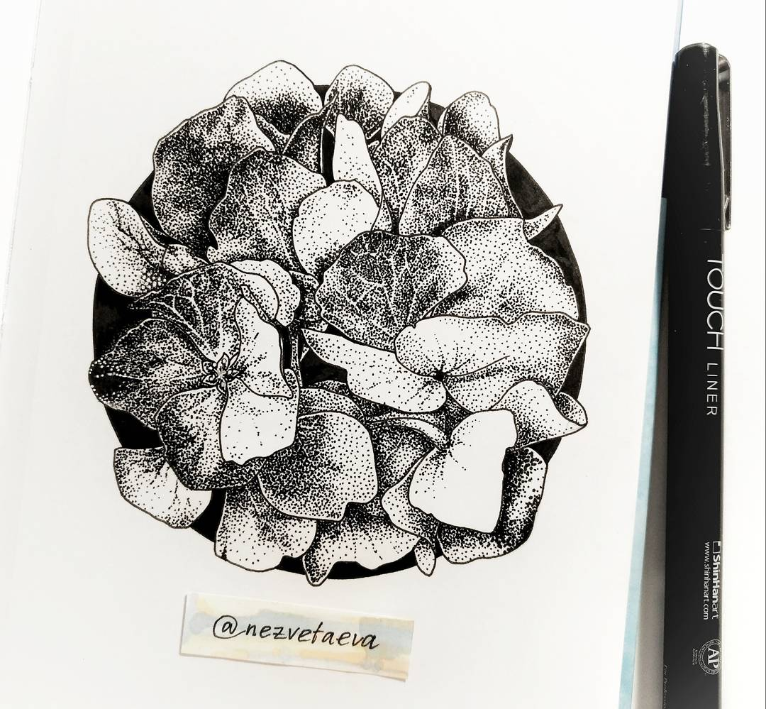 Sonia Nezvetaeva, illustrator, sketcher, dotwork, pointellism