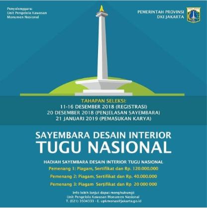 Lomba Desain Interior Tugu Nasional 2019 Umum Gratis