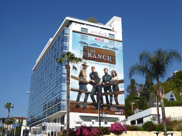 The Ranch giant series launch billboard Sunset Strip