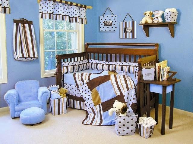 C mo decorar el cuarto del beb de color marr n y celeste - Decorar cuarto de bebe ...