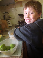 Boy Baking with Apples