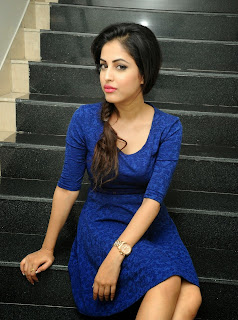 Priya Bennerjee in Spicy Tight Blue Frock Spicy Pics
