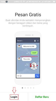 Cara Login Line Dengan Akun Facebook di Hp Android