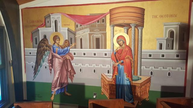Μια από τις νέες αγιογραφίες