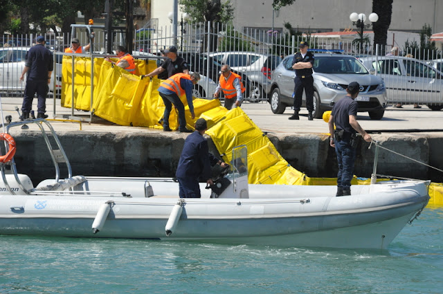 Θεσπρωτία: Άσκηση ετοιμότητας στο λιμάνι της Ηγουμενίτσας με σενάριο τη θαλάσσια ρύπανση