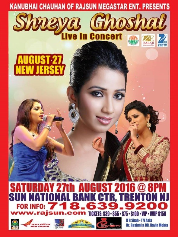 Shreya Ghoshal Live in New Jersey 2016