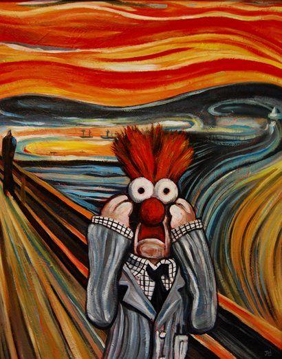 El grito de Munch - Versión Beeker