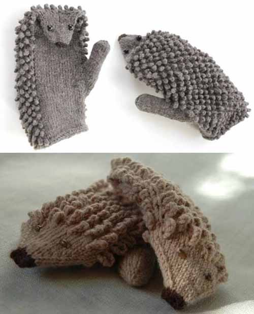 We Like Knitting: How To Knit Hedgehog Mittens
