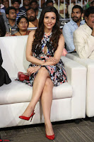 Kyra Dutta in a Deep neck Small Dress at Shamanthakamani pre release function ~  Exclusive 058.JPG