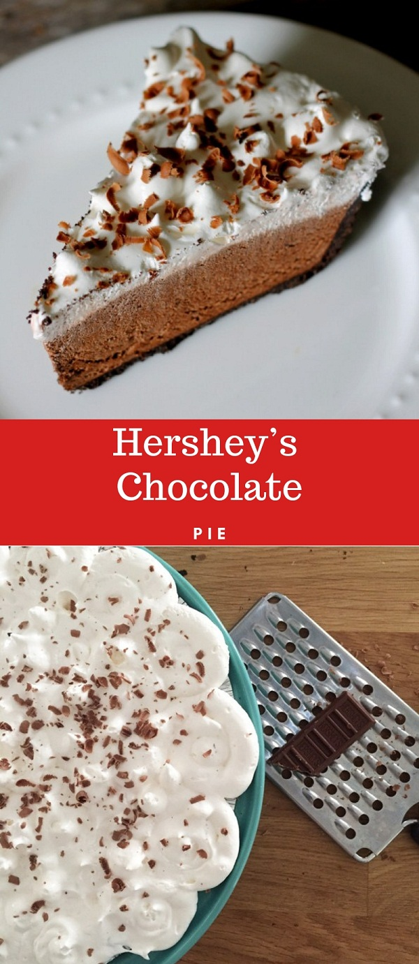 Hershey's Chocolate Pie (An Easy Five Minute Recipe)
