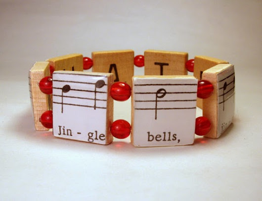 Christmas Jewelry with Vintage Sheet Music