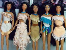 vestuario de las muñecas pocahontas