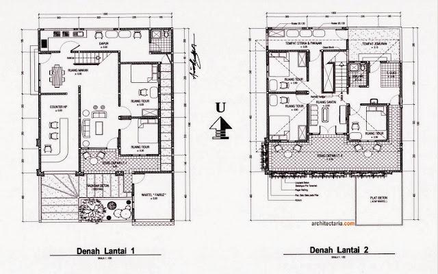 Sketsa Rumah Minimalis Modern